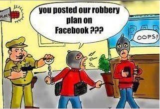 social media robbery posted on facebook cartoon